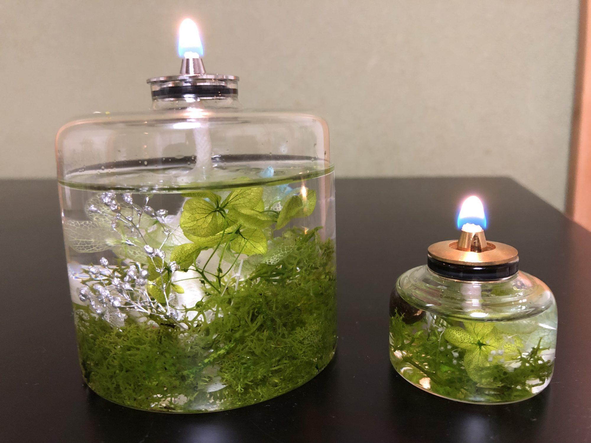 ハーバリウムオイルランプ